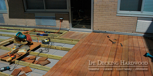 Deck installation project