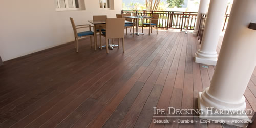 Ipe wood porch