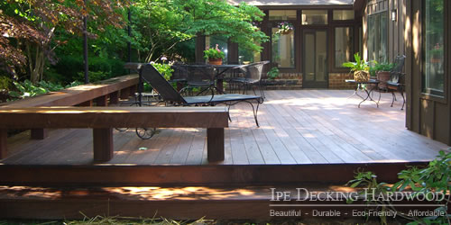 Outdoor ipe deck
